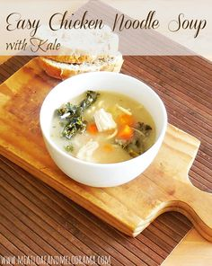 Easy Chicken Noodle Soup with Kale - The Taylor House