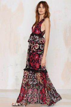Nasty Gal Lola Embroidered Maxi Dress - Midi + Maxi | Dresses