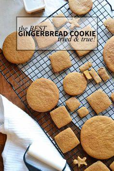 tried & true Gingerbread Cookie recipe. Cookies, gingerbread, holiday cookies, recipes. | nelliebellie.com | gingerbread cookies