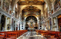 Santa Maria de Maggiore in Rome and Other Beautiful Cathedrals in Europe Santa Maria, The Places Youll Go, Places To Visit, Sistine Chapel, Cathedral Church, Modern Metropolis, Place Of Worship, Barcelona Cathedral, Places To Travel
