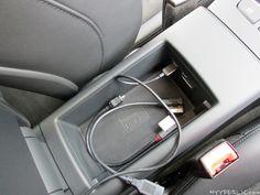 Audi A3 Sportback e-tron Phonebox in der Armlehne