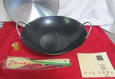Joyce Chen Wok Set 14 Carbon Steel Non Stick Retro 80 S Model