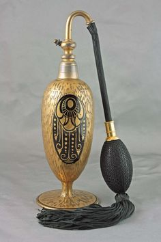 French art deco perfume atomizer, circa 1930's.