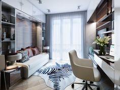 Kleine Wohnung Einrichten 30qm Funktional Raum Arbeitsplatz Hochglanz