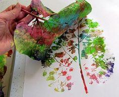 Quadri creativi con foglie