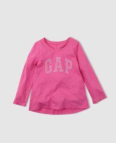 Camiseta de niña Gap en fucsia con strass