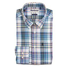 Orson Tailored Fit Button Down in Blue by Barbour