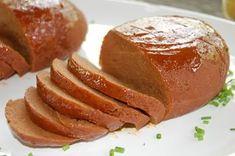 Seitan Ham - Baked, glazed, and ready to eat! Vegan Christmas, Vegan Thanksgiving, Christmas Cooking, Foods With Gluten, Vegan Foods, Vegan Dishes, Vegan Meals, Vegan Meat Recipe, Vegetarian Recipes