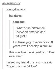 """Yogurt can be fat free"""