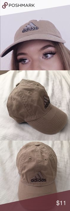 2fb908fece73 SOLD on Merc. Tan Adidas Cap New. Just a little wrinkled from being in