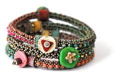 Tamara Scott bracelets.  I do love time consuming, details.