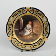 Exceptional Royal Vienna Hand Painted Cabinet Plate Gretchen in Prison Girl PC | eBay