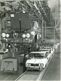 Arese factory with Giulia super