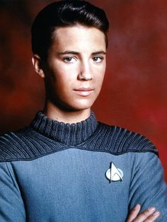 Ensign Wesley Crusher. From about age 8 to 13; I was in love. I nearly passed out when I finally came face to face with him on the Splash loading dock.