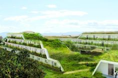 OFF Architecture's Terraced Green Roofed Apartments To Add Landscaping to Anglet France