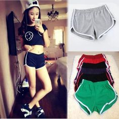 10 color American apparel Sportwear Casual Shorts for Women Mini Shorts femme Spring Shorts Outfits, Shorts Outfits Women, Short Outfits, Gym Shorts Womens, Mini Shorts, Sport Shorts, Running Shorts, American Apparel, Nylons