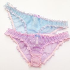 Cuties! It says it all! Cutest panties ever! Delicate sheer chiffon with embroidered detail finished with a sweet little bow. Comes in 2