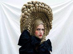 a hair wig from CuldeSac and Studio Marisol's workshop at the Centre International de Recherche et d'Education Culturelle et Agricole (C.I.R.E.C.A)