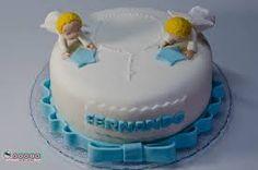 Image result for bolo batizado menino