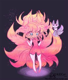 Ahri  League of legends  Star guardians  sg ahri  nine tail fox  magical girl  fox girl  mahou shoujo