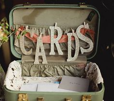 could be a cool way to do a guestbook, each guest could give a little marriage advice and throw it in the suitcase