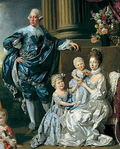 George III, Queen Charlotte and their six eldest children by Johann Zoffany 1770
