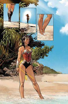 Wonder Woman on the Beach (Superman/Wonder Woman #5)