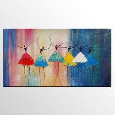 Abstract Art, Canvas Art, Ballet Dancer Painting, Ca7