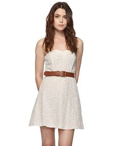 Paisley Lace Sweetheart Dress | FOREVER21