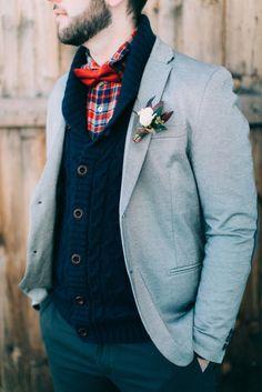 Cozy groom's suit