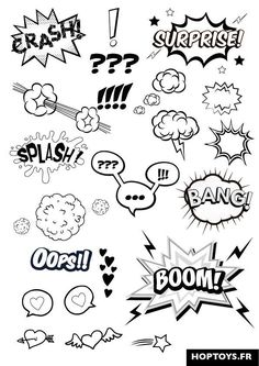 These comic effects will be added to enhance the characters emotions. Eg: The cl… These comic effects will be added to enhance the characters emotions. Eg: The close up of the shocked Kia Si will have the Exclamation marks pop up by the eyes. Doodle Drawings, Doodle Art, Letras Comic, Doodles, Sketch Notes, Bullet Journal Inspiration, Doodle Inspiration, Learn To Draw, Hand Lettering