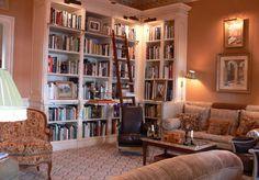 Trendy Home Library Study Office Shelves Library Bookshelves, Built In Bookcase, Bookcases, Library Ladder, Bookcase Styling, Home Library Rooms, Home Libraries, Bookshelf Lighting, Boudoir