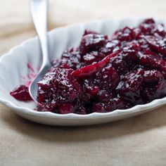 Cabernet-Cranberry Sauce with Figs Recipe  | Epicurious.com