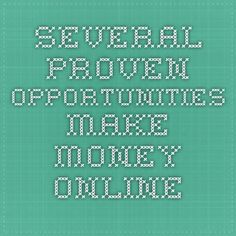 Several Proven Opportunities Make Money Online