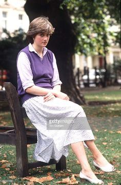 Lady Diana Spencer At The Young England Kindergarten, London.