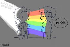 Destiel Rainbow Angel Cas :)