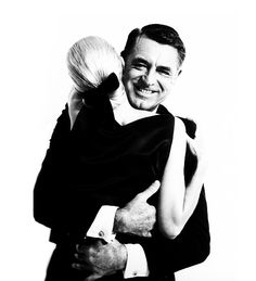 Cary Grant & model Sunny Harnett photographed in 1959 by Richard Avedon.