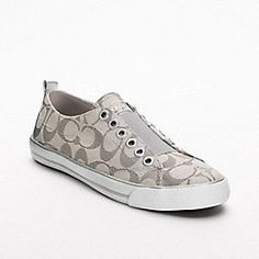 Who said wearing sneakers wasn't cute? Love these Coach sneakers for on the go. Thanks Coach for making me a sneaker hater love these adorable shoes. No laces! Super cute $98...nice!