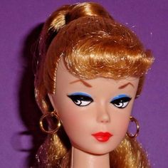 Vintage-Barbie-Reproduction-NUDE-Blonde-Ponytail-FOOT-HOLES-High-Brow-PERFECT