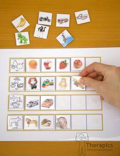 Matrix Categories by Therapics on Etsy, Speech Therapy Activities, Speech Language Therapy, Montessori Activities, Preschool Worksheets, Speech And Language, Preschool Activities, Picture Icon, English Activities, Matrix