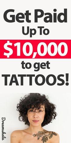 Get Paid to Get Tattoos on Your Body (Up To $10,000). #getpaidtogettattoos #tattoos #tattoosonbody #getpaidtogettattoosonyourbody #skinadvertising #getpaidtoadvertiseskin #getpaidfreemoney #extramoneyideas #sideincome #companiesthatpayforskinadvertising #dreamshala Extra Cash, Extra Money, Money Tips, Money Hacks, Make Money Online, How To Make Money, Tattoos, Business Ideas, Tatuajes