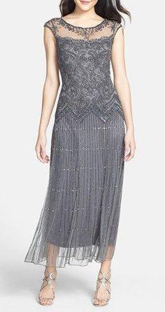 Lovely Clusters Shop | www.lovelyclustersshop.com: Pisarro Nights Illusion Beaded Mesh Dress