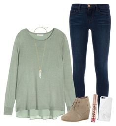 """""""breakout Birmingham today"""" by kenzie-parker ❤ liked on Polyvore featuring J Brand, H&M, TOMS, Kendra Scott, Urban Decay, Native Union, women's clothing, women, female and woman"""