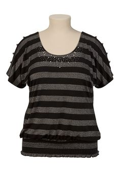 01ac79630fe9a PLUS SIZE TOP HAS A REALLY NICE FIT AT MAURICES FOR  32 Striped  X