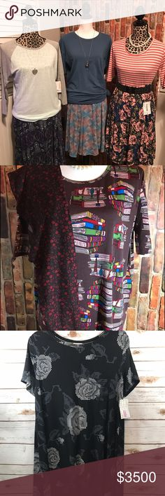 LuLaRoe Inventory - NFS I'm not selling this on Poshmark, you can find all of this on my Facebook page during albums sales.  HTTPS://www.facebook.com/groups/LuLaRoeTeashaLewisVIP/. No outrageously priced outfits, new inventory often! LuLaRoe Dresses