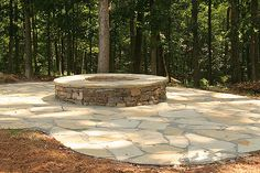 Firepit completed | Here is a shot of the new flagstone pati… | Flickr