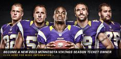 Minnesota Vikings 2013 Season Tickets!