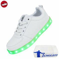 (Present:kleines Handtuch)Schwarz High-Top EU 37, JUNGLEST® Farbe Turnschuhe Schuhe Damen Aufladen LED USB Sportschuhe Sport (TM) Unisex-Erwachsene Snea