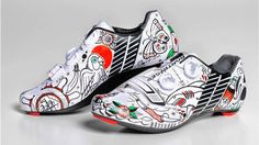 The Beauty of Cycling Road Bike Shoes, Cycling Shoes, Cycling Art, Road Bikes, Road Cycling, Push Bikes, Bicycle Accessories, Bike Design, Custom Shoes