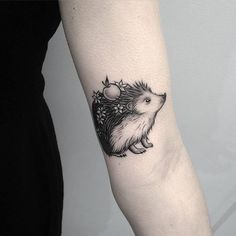 22 Extremely Cute Hedgehog Tattoo Designs - Page 2 of 2 - TattooBloq Pretty Tattoos, Cute Tattoos, Beautiful Tattoos, Body Art Tattoos, Small Tattoos, Sleeve Tattoos, Horse Tattoos, Wing Tattoos, Tatoos